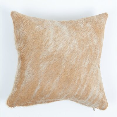 Pinnock Natural Leather Pillow Cover Size: 20 x 20