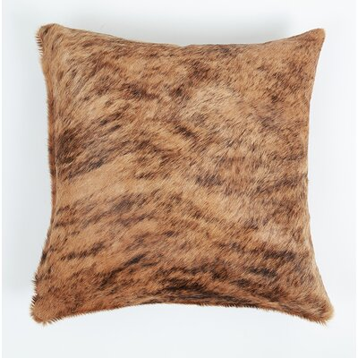 Coachman Brindle Natural Leather Pillow Cover Size: 16 x 16