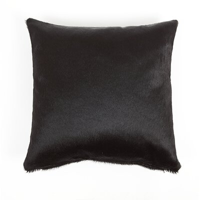 Fairview Solid Natural Leather Pillow Cover Size: 20 x 20