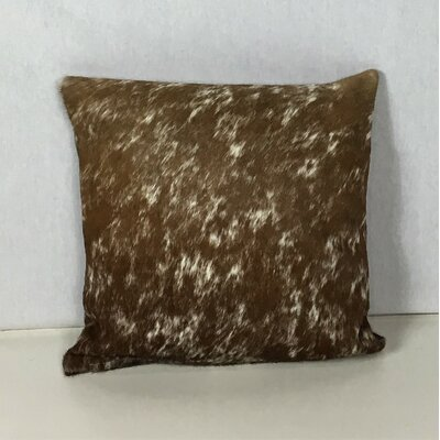 Pinson Natural Leather Pillow Cover Size: 16 x 16