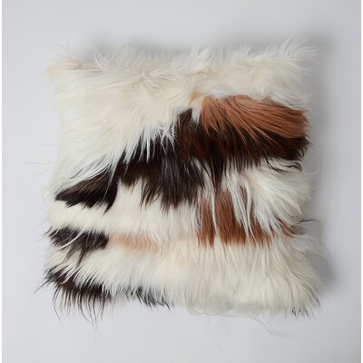 Coatsburg Natural Goat Hair Leather Pillow Cover