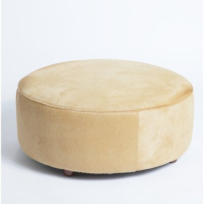 Cobden Leather Pouf Upholstery: Beige
