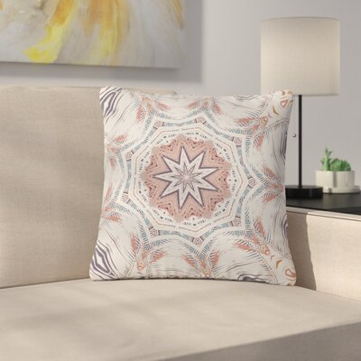 Alison Coxon Boho Dream Outdoor Throw Pillow Size: 16 H x 16 W x 5 D, Color: Pink/Blue