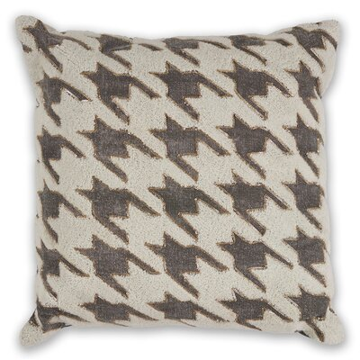 Montalto Houndstooth 100% Cotton Throw Pillow
