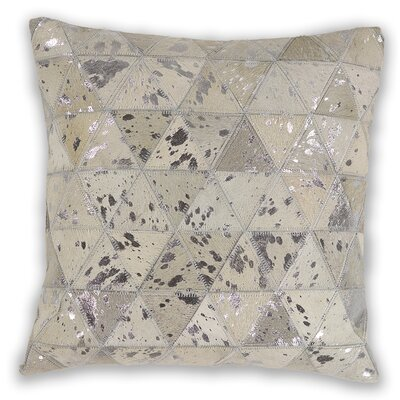 Linger Prism Leather Throw Pillow