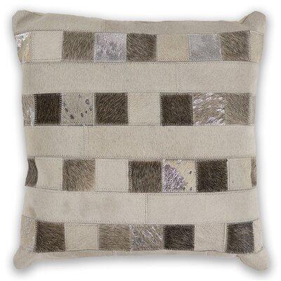 Lingo Leather Throw Pillow