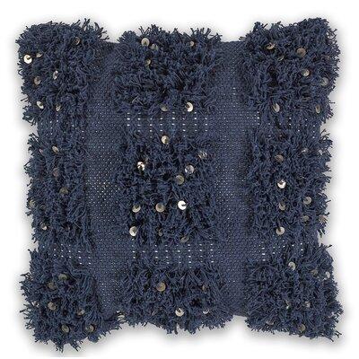 Crouse 100% Cotton Throw Pillow Color: Navy