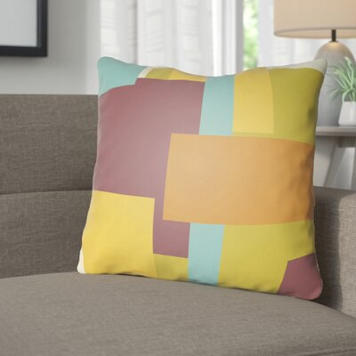 Wakefield Throw Pillow Size: 18 H x 18 W x 4 D, Color: Orange / Yellow / Purple
