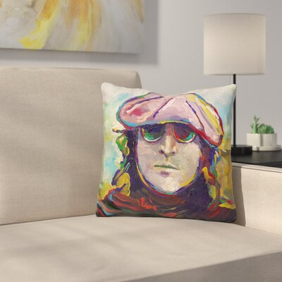 John Lennon Hat Throw Pillow