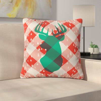 Oh Deer Me Indoor/Outdoor Throw Pillow Size: Large