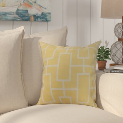 Cawley Lattice Geometric Print Indoor/Outdoor Throw Pillow Color: Yellow, Size: 18 x 18
