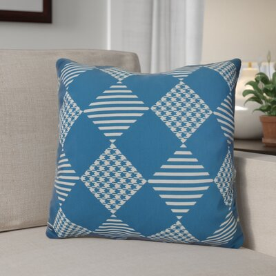 Geometric Outdoor Throw Pillow Size: 18 H x 18 W, Color: Teal