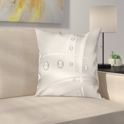 Lines Curves Vivid Balls Square Cushion Pillow Cover Size: 16 x 16