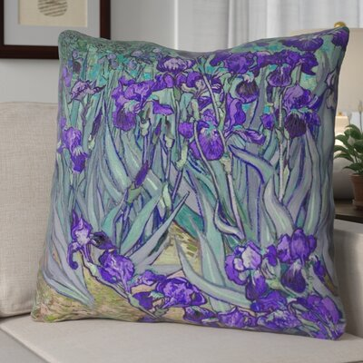 Morley Irises Square Euro Pillow Color: Purple