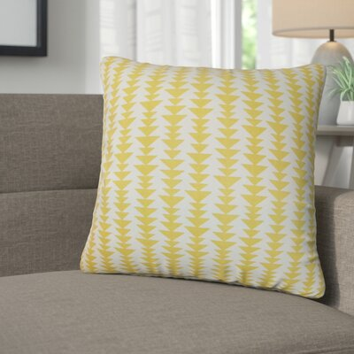 Lorelai Geometric Cotton Throw Pillow Color: Banana