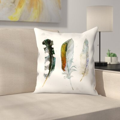 Feathers 1 Throw Pillow Size: 18 x 18