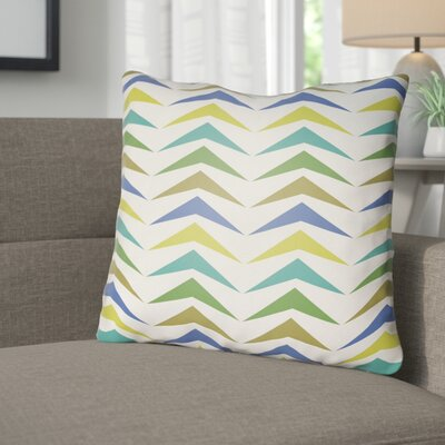 Wakefield Contemporary Square Throw Pillow Size: 20 H x 20 W x 4 D, Color: Olive/Green/Lime