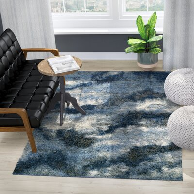 Zhora Navy Area Rug Rug Size: Rectangle 96 x 132