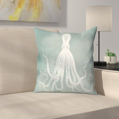 Mil Lenial White Octo Throw Pillow Size: 14 x 14, Color: Gray / White