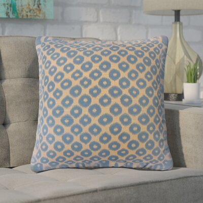 Younes Ikat Cotton Throw Pillow Color: Brown