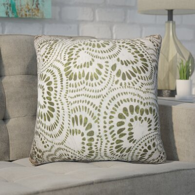 Winburn Floral Cotton Throw Pillow Color: Olive Green