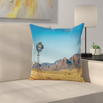 Windmill Decor Flinders Ranges Square Pillow Cover Size: 18 x 18