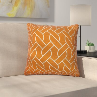 Harding Cotton Throw Pillow Color: Mango, Size: 22 x 22