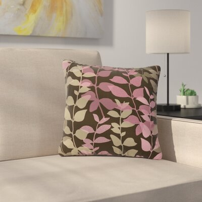 Carolyn Greifeld Leaves of Dreams Outdoor Throw Pillow Size: 18 H x 18 W x 5 D, Color: Pink/Brown