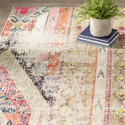 Elston Abstract Multicolor Area Rug Rug Size: Rectangle 67 x 92