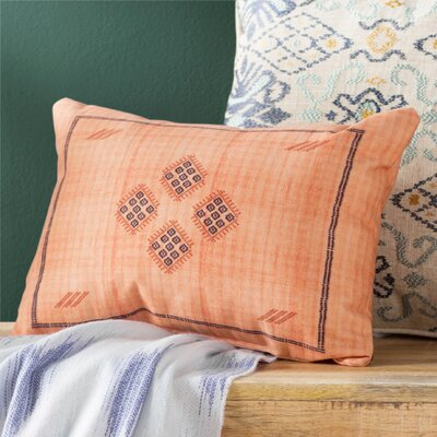 Keana Lumbar Pillow Color: Orange/ Tan
