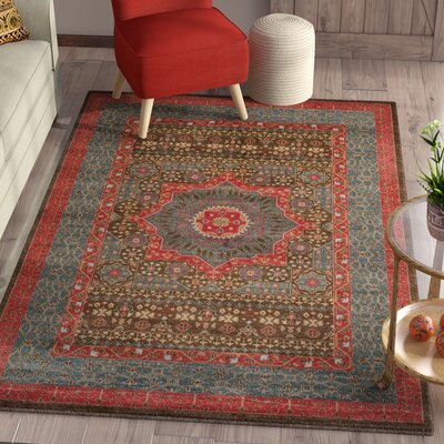 Freetown Navy Area Rug Rug Size: Rectangle 51 x 77