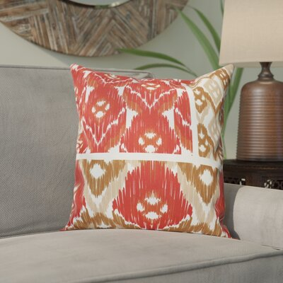 Meetinghouse Free Spirit Geometric Outdoor Throw Pillow Size: 18 H x 18 W, Color: Coral