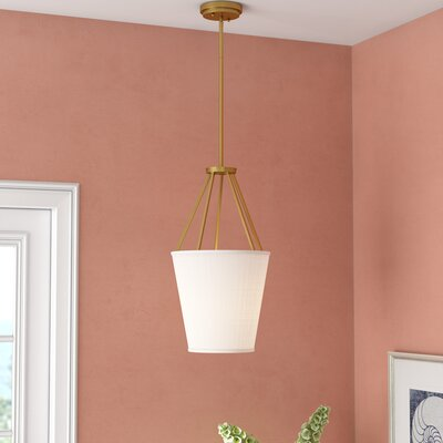 Bellvue 3-Light Foyer Pendant Finish: Natural Brass, Size: 20.63 H x 12 W x 12 D