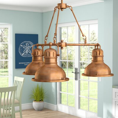 Maleah Indoor 3-Light Mini Chandelier Color: Washed Copper
