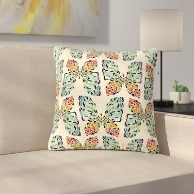 Art Love Passion Butterfly Pattern Outdoor Throw Pillow Size: 16 H x 16 W x 5 D