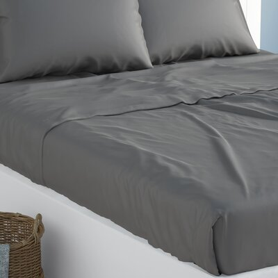 Verna Flat Sheet Size: King, Color: Dark Gray