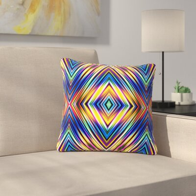 Dawid Roc Modern Tribal Outdoor Throw Pillow Size: 18 H x 18 W x 5 D
