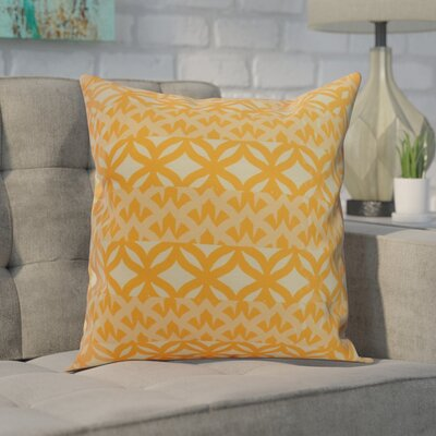 Carmean Throw Pillow Color: Yellow, Size: 16 x 16