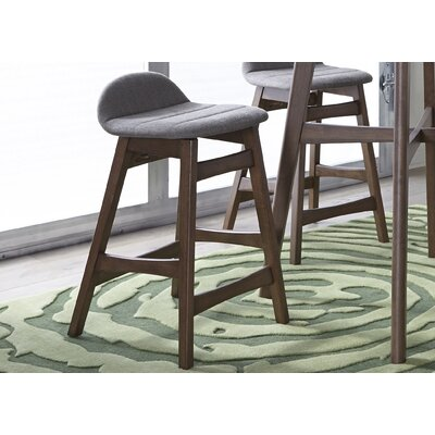 Grimmer 24 Bar Stool (Set of 2) Upholstery: Gray