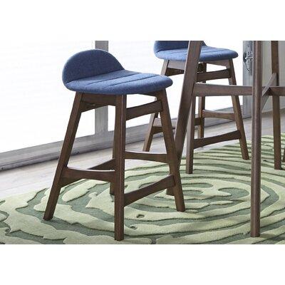 Grimmer 24 Bar Stool (Set of 2) Upholstery: Blue