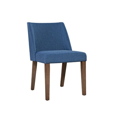Orzechowski Upholstered Dining Chair (Set of 2) Upholstery: Blue