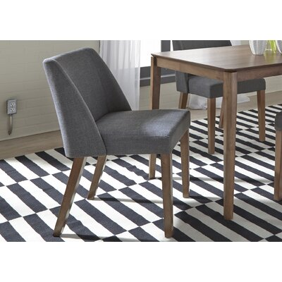 Orzechowski Upholstered Dining Chair (Set of 2) Upholstery: Gray