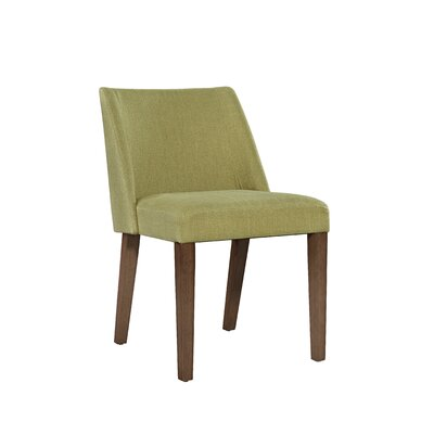 Orzechowski Upholstered Dining Chair (Set of 2) Upholstery: Green