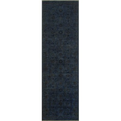 One-of-a-Kind Norrell Over Dyed Reform Hand-Woven Wool Charcoal/Blue Area Rug