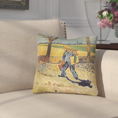 Zamora Self Portrait Square Indoor Throw Pillow Size: 20 x 20