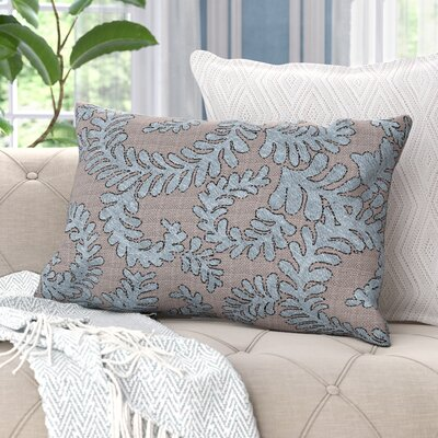 Boutin Ferns Rectangular Lumbar Pillow Color: Sea Blue