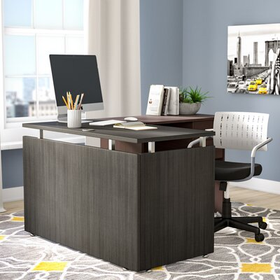 Frey 29.5 H Desk Bridge and Connector Size: 29.5 H x 42 W x 23.63 D, Finish: Espresso