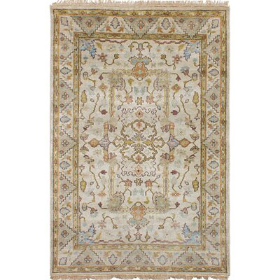 Vadnais Hand-Knotted Wool Beige Area Rug