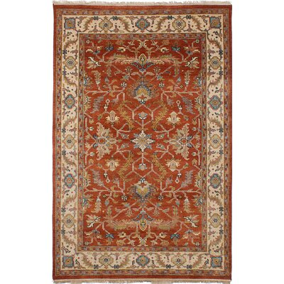 Reames Hand-Knotted Wool Dark Copper Area Rug