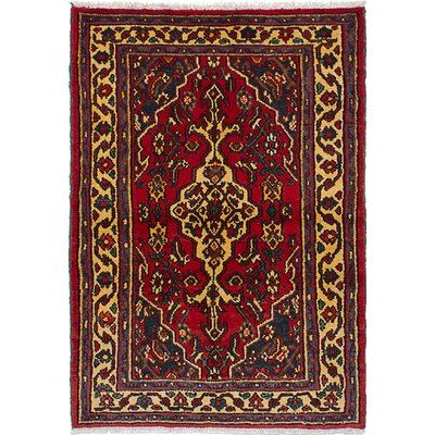 One-of-a-Kind Innsbrook Hand-Knotted Wool Red Area Rug